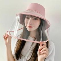 Anti-fog Panama Hat Unisex Summer Anti-saliva Bucket Hats Big Brim Trans... - $13.79