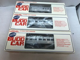 Lionel Illuminated Budd Car 3 Piece Set 6-8766, 6-8767, 6-8768 Original Boxes - $296.99