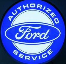 Ford Authorized Service Back Lit LED Sign 15 Inches Blue White - $93.93