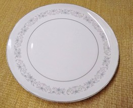 Mikasa Deborah Round Platter Chop Plate Blue Gray Floral 12 inches VGUC ... - $17.99
