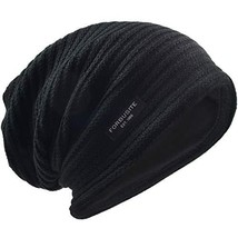 VECRY Men's Slouchy Beanie Knit Crochet Rasta Cap for Summer Winter Black - $18.05