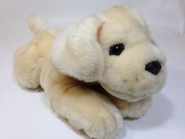 FAO Schwarz Dog Plush Yellow Lab Labrador Retriever Puppy Golden Stuffed Animal - $24.99