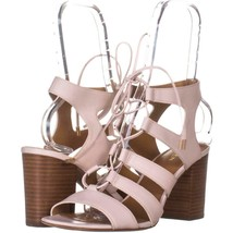 COACH Larissa Lace Up Gladiator Sandals 322, Chalk, 9.5 US - $77.75