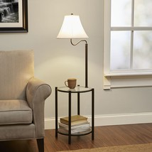 Glass End Side Coffee Table Lamp Home Furniture Transitional Livingroom - $52.66