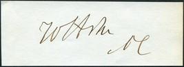 WILLIAM SHEPPERD ASHE SIGNED CUT N. CAROLINA CONGRESSMAN CIVIL WAR CONFE... - $103.94