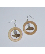 Custom Made! Natural Wood Earrings,Wooden Dangle Earrings with Dowel and... - $15.95