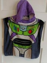 VINTAGE Buzz Lightyear Toy Story Kids Hooded Poncho Disney Bath Beach Po... - $8.79