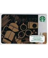 Starbucks Canada 2013 Braille Black Gold Gift Card No Value English French - $1.52