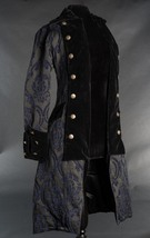 NWT Women's Blue Black Brocade Victorian Goth Vampire Pirate Jacket Reg$190 - $119.99