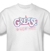 Grease is the Word T shirt retro 70s movie 100% cotton white tee PAR135 image 2