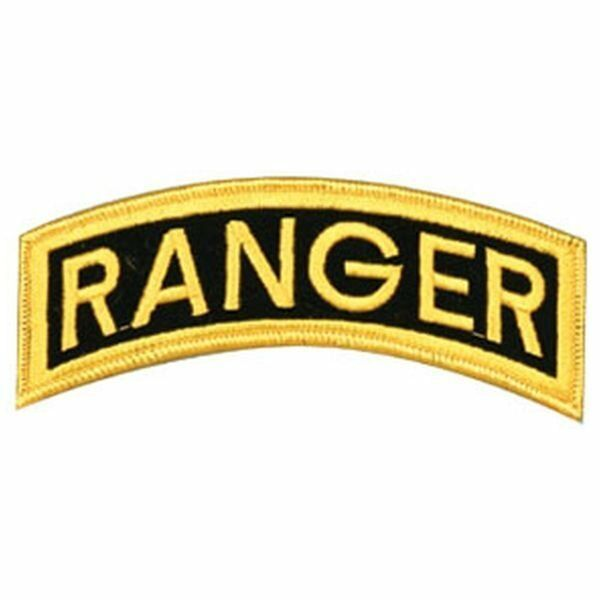 "Primary image for ARMY RANGER TAB ROCKER 5""  BACK JACKET EMBROIDERED MILITARY PATCH"