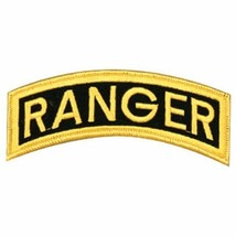 "ARMY RANGER TAB ROCKER 5""  BACK JACKET EMBROIDERED MILITARY PATCH - $23.74"