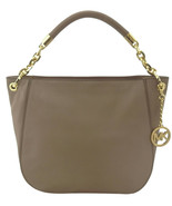 Michael Kors Stanthorpe Shoulder Hobo Bag Dark Taupe Beige Smooth Leathe... - $292.41