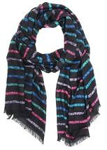 Calvin Klein Logo Stripe Pashmina Scarf - $10.88