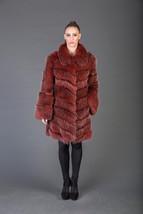 Luxury gift/Red Racoon fur Coat/Fur jacket full skin / Wedding,or anniversary pr - $950.00