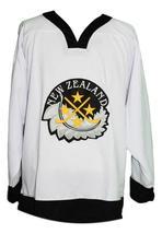 Custom Name # Team New Zealand Retro Hockey Jersey New White Dittman 32 Any Size image 1
