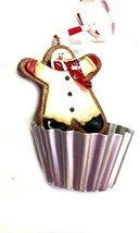 Kurt Adler Gingerbread Ornament (Snowman Cupcake) - $14.85