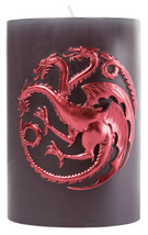 Game of Thrones TV Show House Targaryen Sculpted Sigil Pillar Candle NEW... - $29.02
