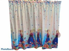 Disney Frozen Anna Elsa Pink White Blue Lot of 2 Window Curtain Panels 6... - $23.76