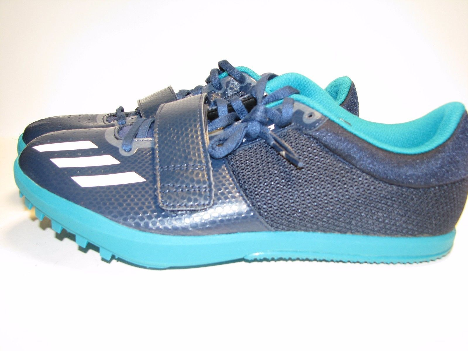 promo code 611bc c3f5d Adidas Jumpstar Running Track Shoes Navy White Green S42048 US SZ 9-New