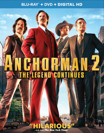 Anchorman 2-The Legend Continues (Blu-ray/DVD/Rated & Unrated Versions/3 Discs)