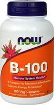 NOW Foods B-100 -- 100 Veg Capsules - $23.32