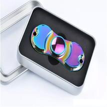 Aluminum Metal Rainbow Hand Spinner Fidget - One Item w/Random Color and Design
