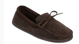 Men's dluxe by Dearfoams Drew Brown Moccasin Slippers - Small 7 /8  - $19.55 CAD