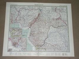 1932 ORIGINAL VINTAGE MAP OF NIGERIA CONGO CAMEROON GABON GUINEA AFRICA  - $16.83