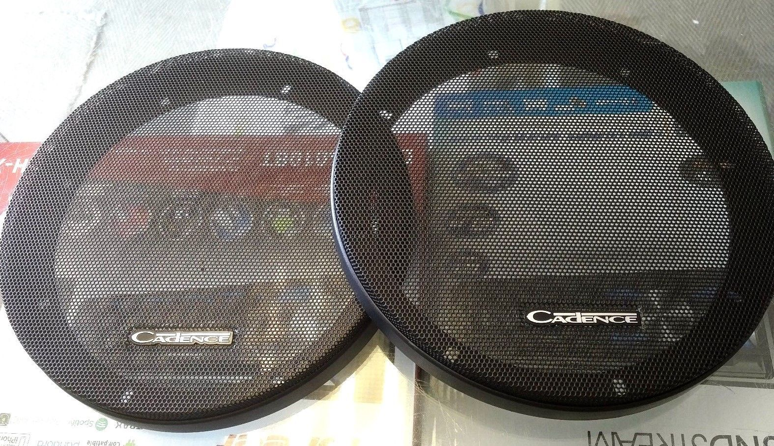 2 UNIVERSAL Cadence 8 inch 2 pc speaker / mid bass / woofer  grills