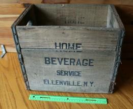 Home Beverage Seltzer Bottle Crate wooden Storage box Vintage NY - $106.91
