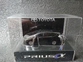 Toyota Prius α Led Light Keychain Black Pull Back Mini Car Japan - $25.79