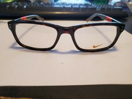 New Nike Eyeglasses 7237 215 Tortoise Total Orange 52•17•140 With  Case PERFECT - $83.16