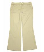 Marc by Marc Jacobs stretch bootcut pants khaki tan stripe sz 6 short  - $17.80