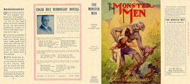 Burroughs, Edgar Rice THE MONSTER MEN facsimile  jacket 1st Grosset edition - $21.56