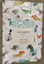 Cynthia Rowley Dogs Indoor/Outdoor Tablecloth 60 x 104 Oblong - $46.00