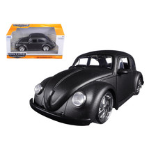 1959 Volkswagen Beetle Satin Metallic Gray with 5 Spoke Wheels 1/24 Diec... - $29.34