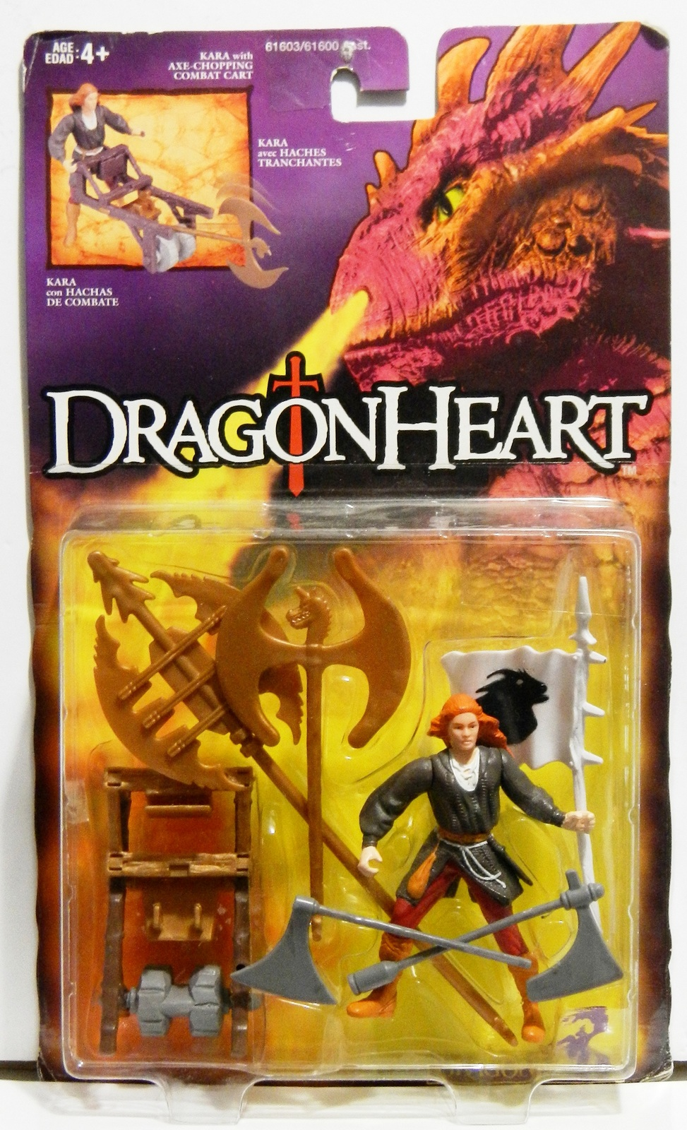 NEW MOC DRAGONHEART Action Figure Kara w//Axe Chopping Combat Cart