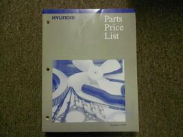 1999 Hyundai Teile Preis List Manuell Okt Scoupe Excel Fabrik OEM Buch 99 - $19.80