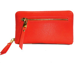 Madison West® Large Zip Around Organizer Fat Wallet- Coral - $27.50