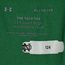 Under Armour Tech Tee Green Notre Dame Football Fighting Irish Men's Shirt XL image 5