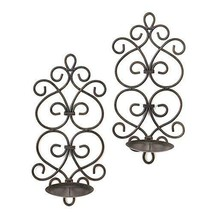 Sconces Candle, Decorative Wall Sconce Candle Holder, Black Scrollwork S... - $192.09