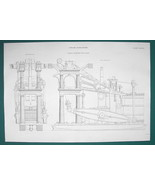 STEAM ENGINE for Queen Victoria's Mail Packet Ship - c. 1835 Fine Qualit... - $22.91