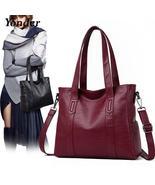 Large capacity tote shoulder  women's bag,soft leather handbags - $59.99