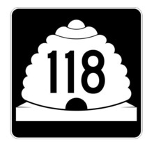 Utah State Highway 118 Sticker Decal R5443 Highway Route Sign - $1.45+