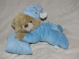 Plushland Plush Land Stuffed Plush Sleepy Sleeping Blue Teddy Bear Pillo... - $44.54