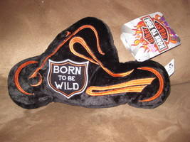 "Born To Ride Biker Beasts Motorcycle New Plush Nwt Stuffed Animal 12"" Sugar Loaf - $7.99"