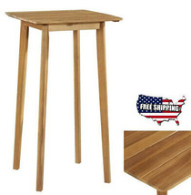 Bar Table High Wood Square Dining Kitchen Pub Restaurant Patio Seating F... - $134.00