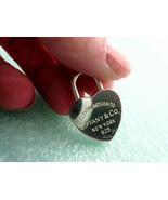 Tiffany & Co Return to Tiffany HUGE Heart Lock Pendant Silver Pouch RARE - $344.18