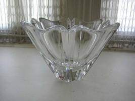Vintage, Orrefors of Sweden, Large 6in x 8in Floral Glass Vase - $75.95